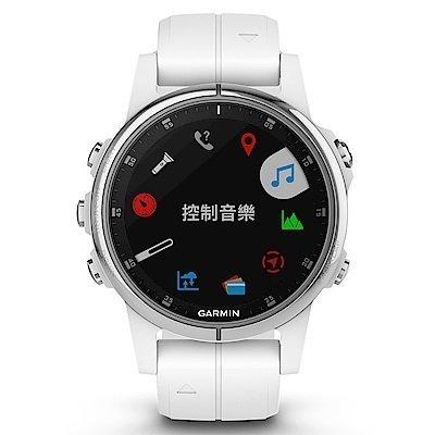 【免運】GARMIN fenix 5S Plus 複合式運動GPS音樂心率腕錶 贈日本SASAKI運動毛巾 5