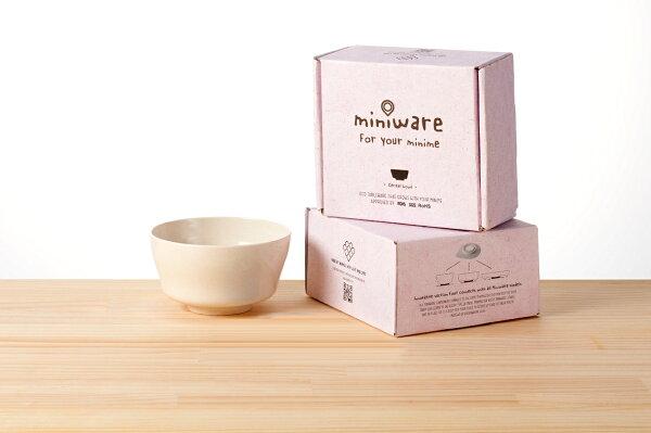 NANABABY:【舊金山設計品牌Miniware】竹纖維兒童學習餐具麥片碗單入(無吸盤)-牛奶麥片