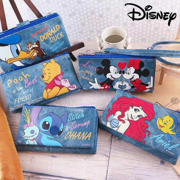 Miravivi:Disney迪士尼iPhoneX牛仔彩繪零錢包保護殼套組(活動可拆式)