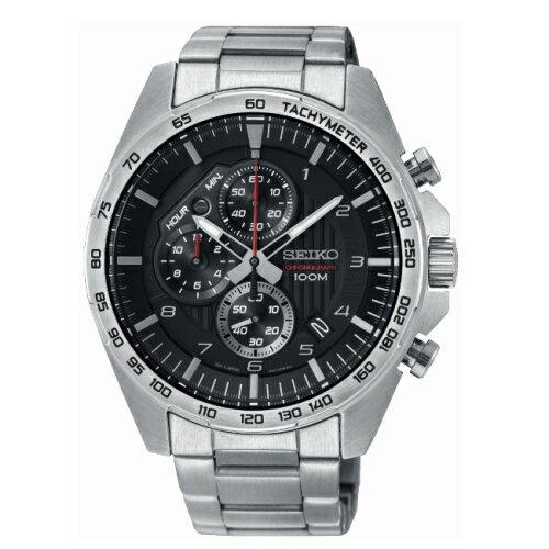 SEIKOCS急速時光三眼計時腕錶8T67-00H0DSSB319P1