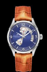 Hamilton 漢米爾頓 JazzMaster OPEN HEART 80小時自動腕錶 H32705541 藍 卡其色 42mm
