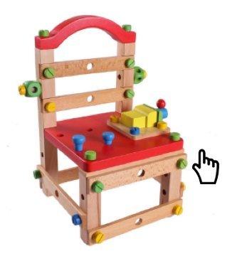 【晴晴百寶盒】創意木製智慧工具椅 創意組合七彩魯班椅 益智遊戲 玩具 木椅 早教 生日禮物 禮品獎品 CP值高 A015