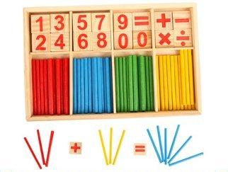 【晴晴百寶盒】木製多功能數字棒學習盒 趣味數字棒遊戲 益智遊戲 生日禮物 禮品獎品 學習用品 CP值高 平價促銷A039