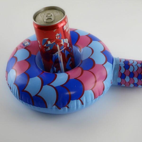 PS Mall 美人魚杯座 充氣後尺寸約寬30高8cm杯口直徑7.5CM【J667】 1