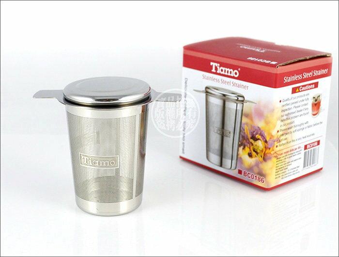 快樂屋♪ 《贈海綿》Tiamo 不鏽鋼 錐形 泡茶濾網 (BC0186)