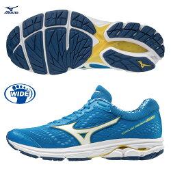 WAVE RIDER 22 一般型 寬楦女款慢跑鞋 J1GD183216(藍X白)【美津濃MIZUNO】