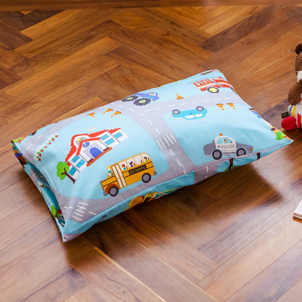 枕頭  兒童枕~防蹣抗菌纖維枕  精梳棉  交通樂園  美國棉 品牌^~鴻宇^~ 製~17