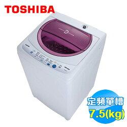 Toshiba 東芝 7.5公斤洗衣機 AWB8091M 【送標準安裝】