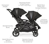 Deals on Contours Options Elite Tandem Double Baby Stroller