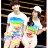 ◆快速出貨◆T恤.情侶裝.班服.MIT台灣製.獨家配對情侶裝.客製化.純棉短T.漫步彩虹夾腳拖【YC461】可單買.艾咪E舖 2