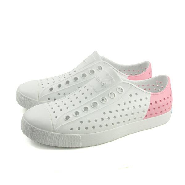 nativeJEFFERSONBLOCK休閒鞋洞洞鞋女鞋白粉紅11100102-9220no751