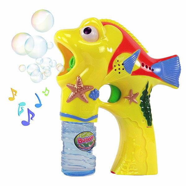 【888便利購】熱帶魚造型連續式電動泡泡槍(有LED燈+音樂)