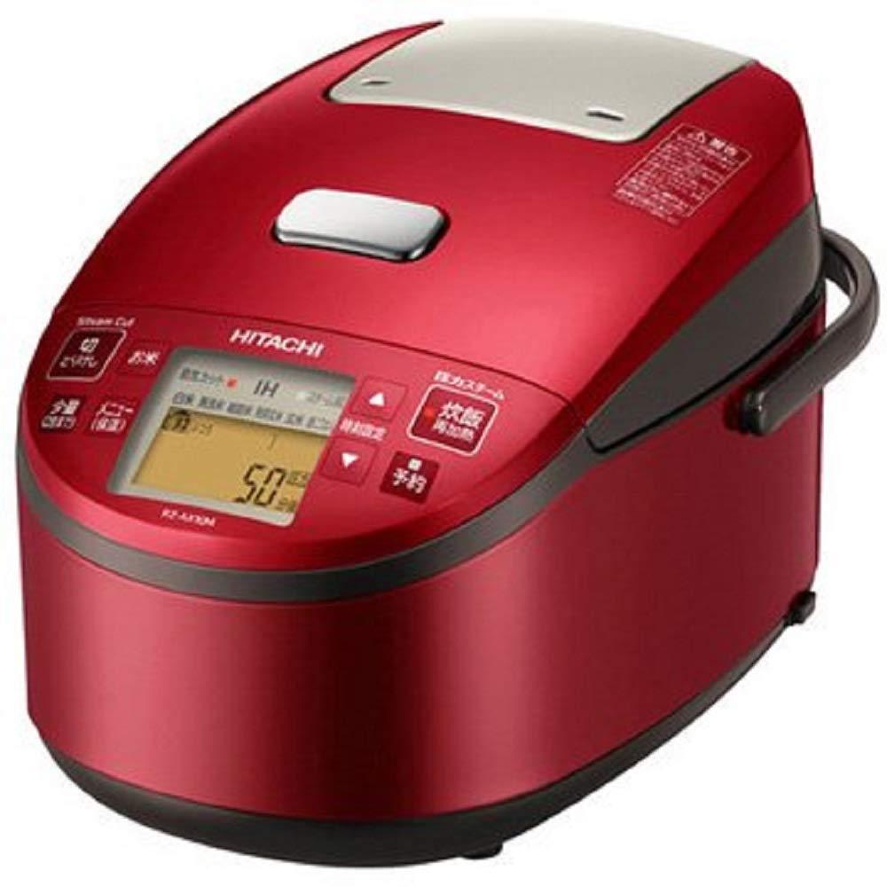 新款日本公司貨  日立 6人份 壓力蒸氣IH電子鍋 黑厚鐵釜  壓力IH 電子鍋 HITACHI RZ - ax10m 紅色  日本必買代購