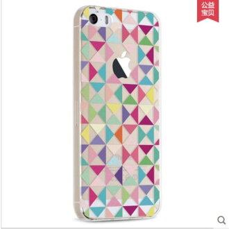 蘋果iPhone 5/5S/SE 景為彩繪立體浮雕矽膠保護套 軟殼01【預購】