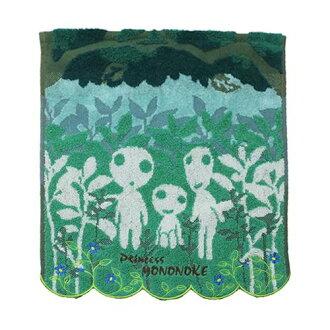 【真愛日本】 17052600074 純棉大方巾-樹精靈綠 宮崎駿 魔法公主 もののけ姫 毛巾 盥洗用品