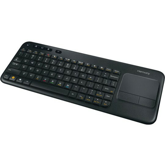 Logitech Harmony Smart Keyboard Add-on - Wireless Connectivity - Bluetooth - USB InterfaceTouchPad - Compatible with Smart TV, Smartphone, Tablet, Media Player, Computer - QWERTY Keys Layout - 915-000241-R 0