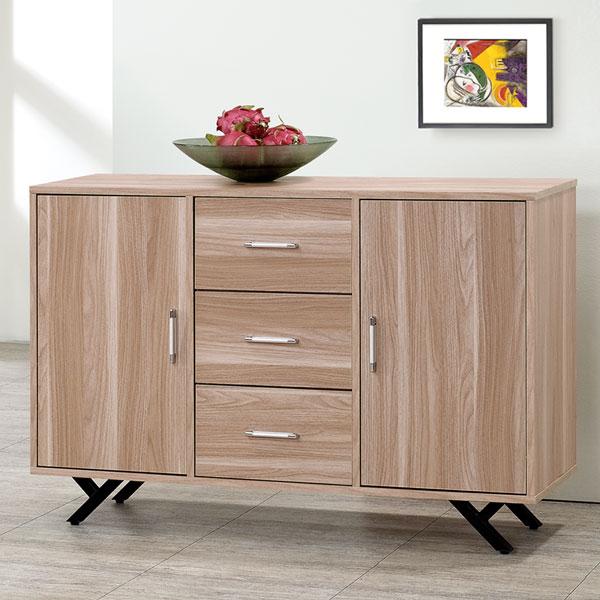 優世代居家生活館:餐櫃櫥櫃收納櫃置物櫃碗盤櫥櫃《Yostyle》夏佐4尺收納餐櫃-原木色
