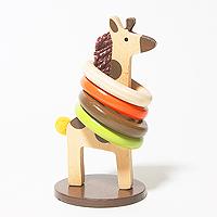 日本進口桌上小玩具(套圈圈長頸鹿)「Out」