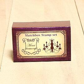 日本「Kodomo小孩牌」火柴盒小印章-009華麗水晶燈「新貨!」
