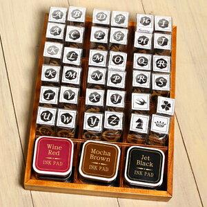 「Kodomo小孩牌」英文字母封印印章-36個印章+6個印泥+木盒整組「可預訂」「整組優惠」