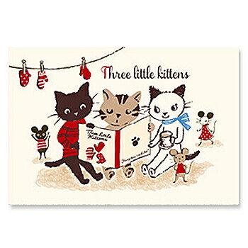 山田詩子 Karel Capek「三隻小貓閱讀書」明信片