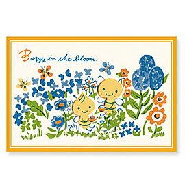 山田詩子 Karel Capek「花海中的小蜜蜂」明信片