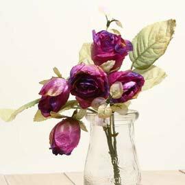 仿真花系列 「乾燥玫瑰」- 魅惑紫 「新品」