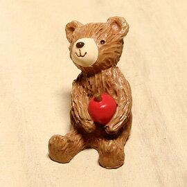 日本森林系小動物擺飾-森林Baby蘋果熊-坐著「Out」