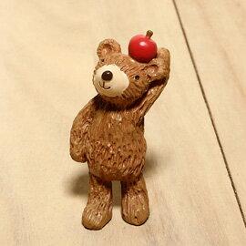 日本森林系小動物擺飾-森林Baby蘋果熊-站立「Out」