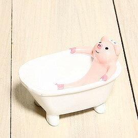 Decole動物浴缸收納盆-泡澡小豬「缺貨待補貨」