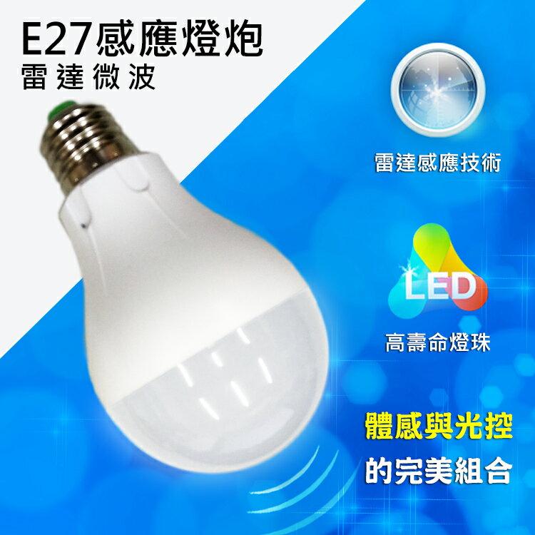 ? 精匠百貨商城 ? LED 雷達微波感應式 E27 7W 安全節能 燈泡/球泡燈    緊急照明燈|展示燈|夜燈|裝飾燈|吊燈