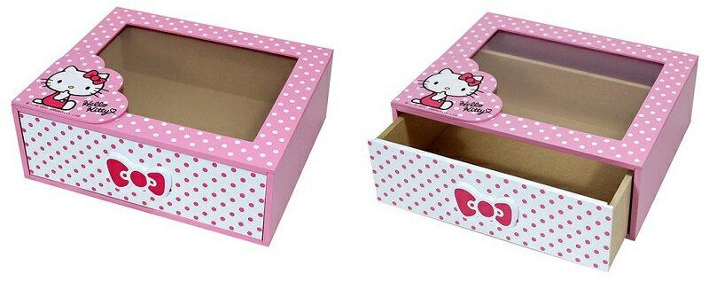 大賀屋 Hello Kitty 飾品盒 收納盒 首飾盒 抽屜 圓點風 三麗鷗 凱蒂貓 KT  T0001 192