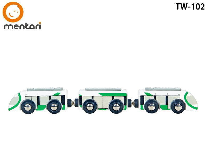 Mentari x 高雄捷運 擬真輕軌串接小列車 獨家收藏 | 木製火車玩具配件組