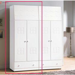 童話烤白色雙色2.5尺衣櫥 / H&D / 日本MODERN DECO