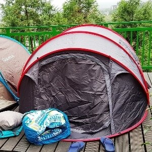 美麗大街【106102404】2017款韓國野營自動速開帳篷超大5~6人露營帳篷