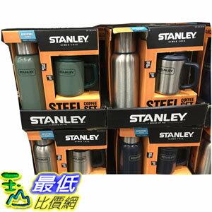 [106限時限量促銷] C661735 STANLEY BOTTLE CAMP MUG 不鏽鋼真空保溫瓶馬克杯2件組739+354毫升