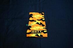 棒球世界全新ZETT迷彩護腕特價一支入黃橘色