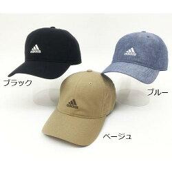 大賀屋 adidas 棒球帽 白 logo 淺藍 黑色 帽子 愛迪達 老帽 日貨 正版 授權 J00030263-64