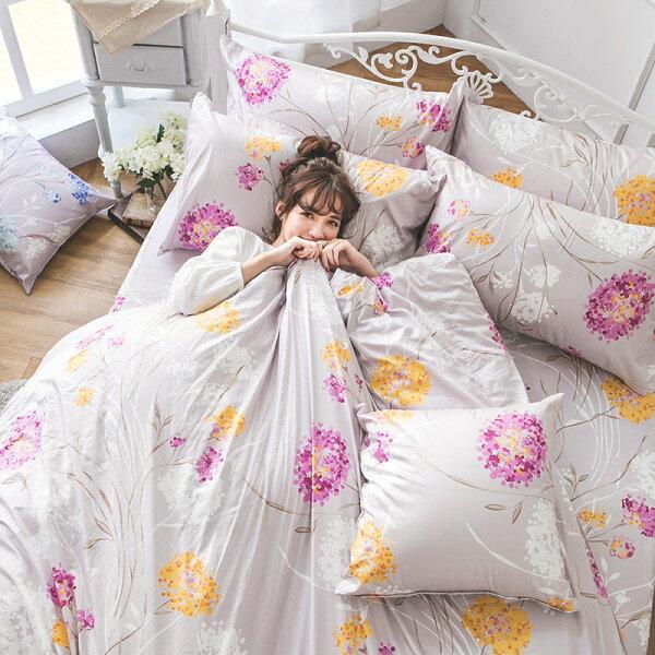 戀家小舖:床包雙人-100%精梳棉【芙若蕾-粉】60支精梳棉,含兩件枕套,戀家小舖,台灣製