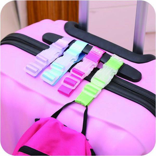 BO雜貨【SV6317】韓版SAFEBET旅行必備行李箱包掛扣 拉桿包包固定 防丟失 嬰兒車掛帶 便攜省力掛帶 單扣