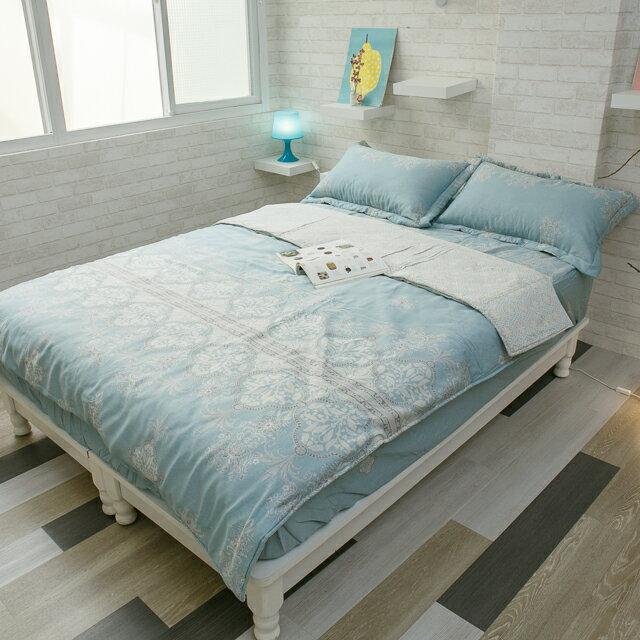 天絲床組  青色波斯王子  多種尺寸組合賣場 100%木漿纖維 8
