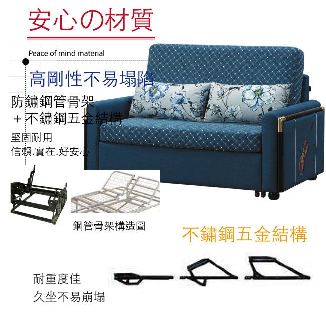 【綠家居】多爾曼 時尚透氣棉麻布多功能沙發/沙發床(二色可選+拉合式機能設計)