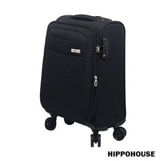 【加賀皮件】HIPPO HOUSE 多色 防潑水 時尚輕旅 可擴充加大 20吋 布箱行李箱 旅行箱 6394