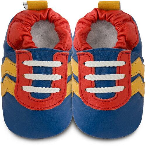 【HELLA 媽咪寶貝】英國 shooshoos 健康無毒真皮手工鞋/學步鞋/嬰兒鞋_急速閃電_102825 (公司貨)