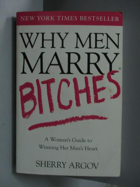 ~書寶 書T2/原文書_OAR~Why Men Marry Bitchest_Argov