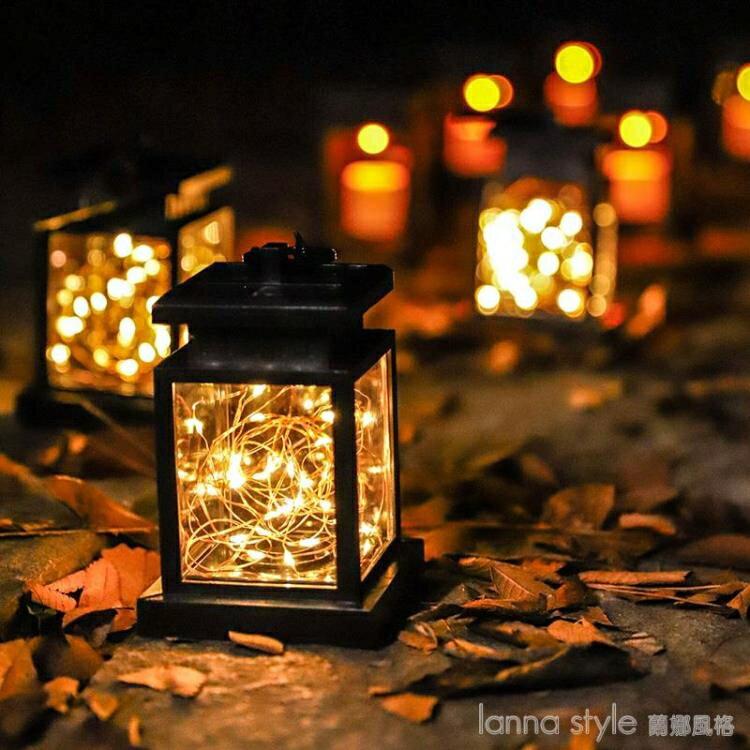 led太陽能燈別墅庭院裝飾花園布置院子陽台創意戶外家用防水掛燈