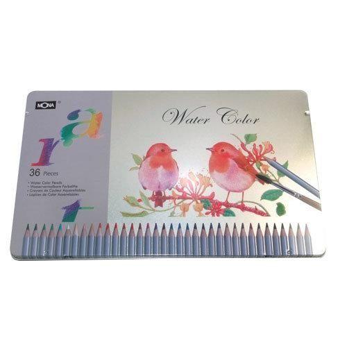 ~ 特惠~水溶性色鉛筆  買就送環保無毒圖筒  ~36色入  盒 MONA 70506