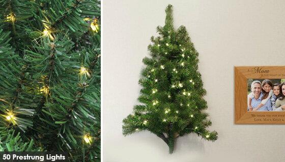 3 Foot Pre Lit Christmas Wall Tree