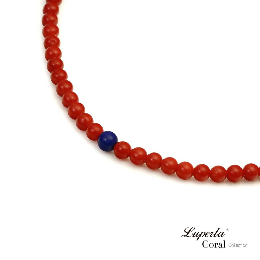 大東山珠寶 頂級天然全紅珊瑚 3mm  216顆 持珠念珠-青金石 1