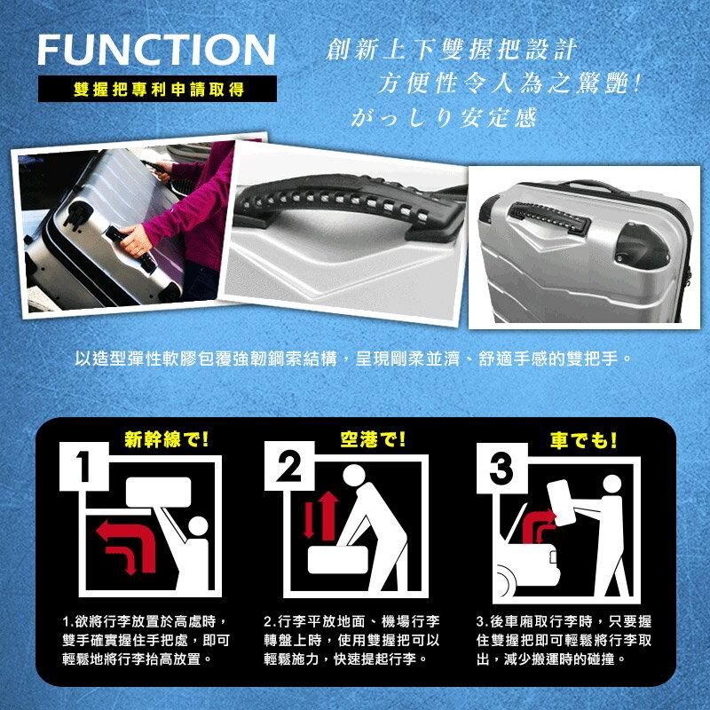 日本 GripMaster 24吋 閃電輕騎士 雙把手拉鍊式硬殼行李箱-2色可選 2